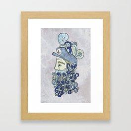 Bearded Sailor Framed Art Print