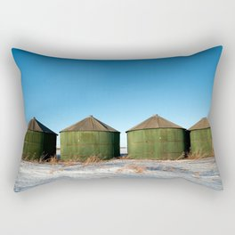 Green Grain Bins Rectangular Pillow