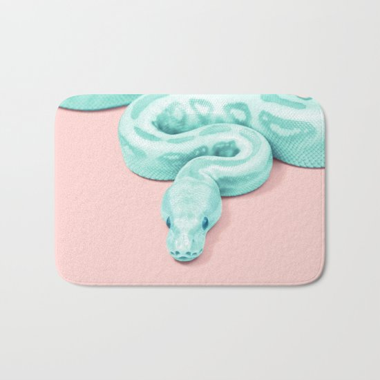 GREEN SNAKE Bath Mat