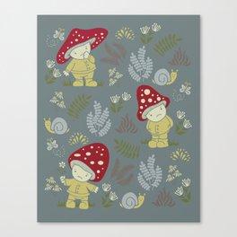 Melancholy Mushrooms Canvas Print