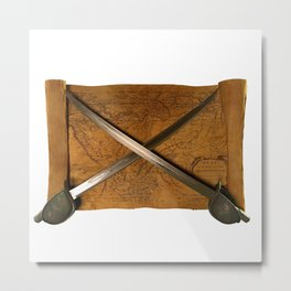 Crossed Swords Metal Print