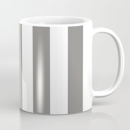 Titanium grey - solid color - white vertical lines pattern Coffee Mug