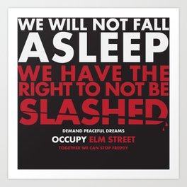 occupy elmstreet Art Print
