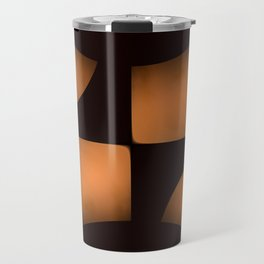 Copper Chips on Black Background #decor #society6 #buyart Travel Mug