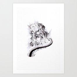 Poor Unfortunate Soul Inktober Drawing Art Print