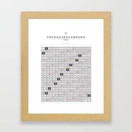 Fredagskalendern 2015 Framed Art Print