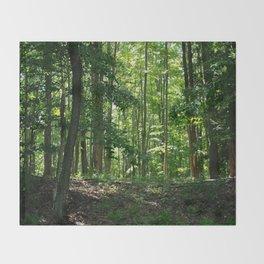Pine tree woods Throw Blanket