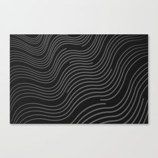 Organic Stripes #03: Monochrome version Canvas Print