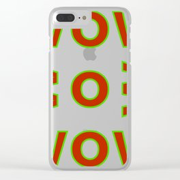 WOW BOB WOW Clear iPhone Case