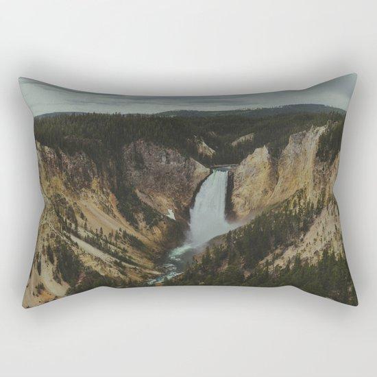 Yellowstone National Park Falls Rectangular Pillow