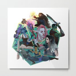 The Mighty Nein Metal Print