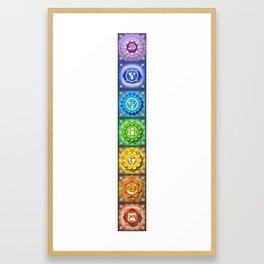 The Seven Chakras Banner - Series I Framed Art Print