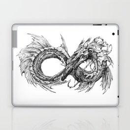 Ouroboros mythical snake on transparent background | Pencil Art, Black and White Laptop & iPad Skin