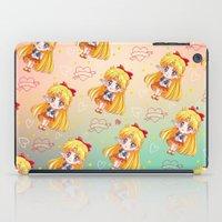 sailor venus iPad Cases featuring Sailor Venus Pattern by Neo Crystal Tokyo