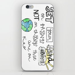 Colossians 3:2 iPhone Skin