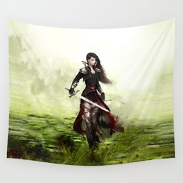 Lady knight - Warrior girl with sword concept art Wall Tapestry
