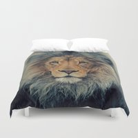 lion king Duvet Covers featuring Lion King by Urban Underdogs