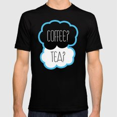 Coffee? Tea? Black Mens Fitted Tee MEDIUM