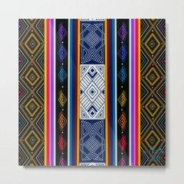 Shipibo Pattern Metal Print