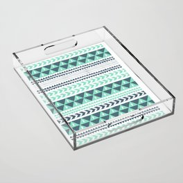 Winter Stripe Acrylic Tray
