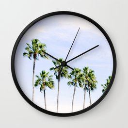 Sunbathing Palm Trees Wall Clock