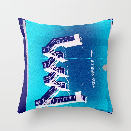 Stairs Up Throw Pillow