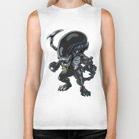 alien Biker Tanks featuring Alien by 7pk2 online