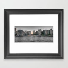 A view From The River Thames London Framed Art Print