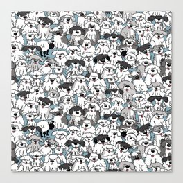 Aqua Dogs Canvas Print