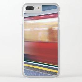 Speeding in London Underground Station Clear iPhone Case