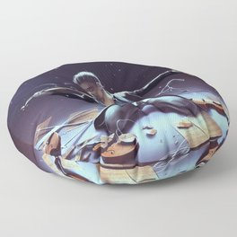 Outburst of violince Floor Pillow