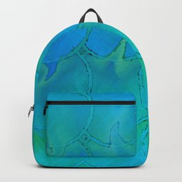 Mermaid Scales Blue Green Light 2 Backpack
