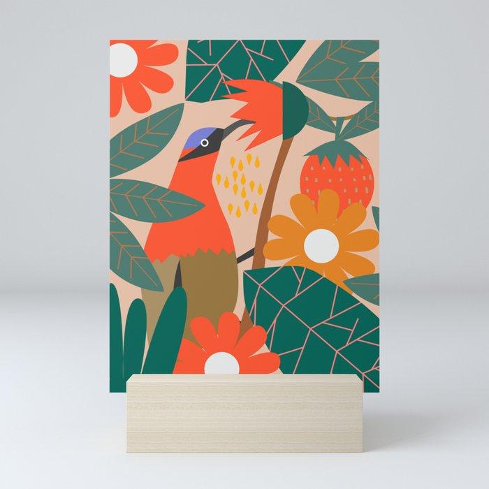 Cute pollinator Mini Art Print
