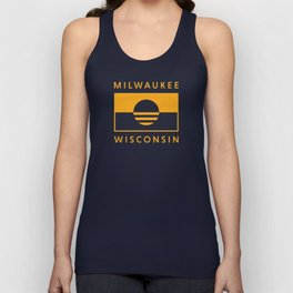 Milwaukee Wisconsin - Gold - People's Flag of Milwaukee Unisex Tank Top