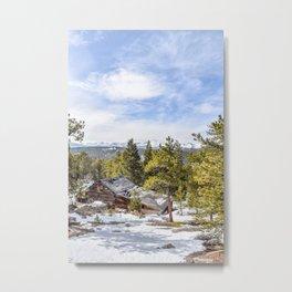Abandoned Cabin Metal Print