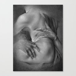 Rape on Persephone drawing Canvas Print