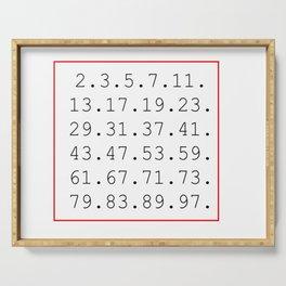 prime number Serving Tray