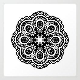 Polynesian style mandala tattoo 2 Art Print