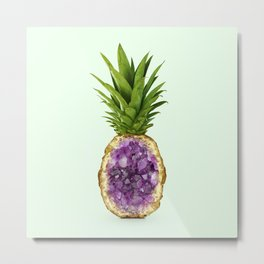 PINEAPPLE QUARTZ Metal Print
