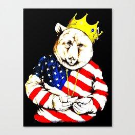 King Bear intense colour1 Canvas Print
