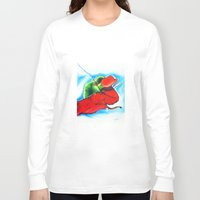 chameleon Long Sleeve T-shirts featuring Chameleon by TheMartianPotato