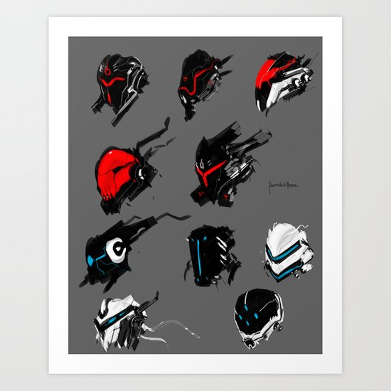 Mech face full armor concept Art Print
