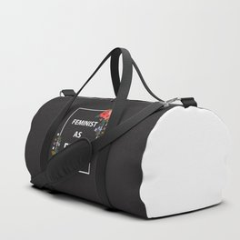 Feminist As Fuck, Quote Duffle Bag