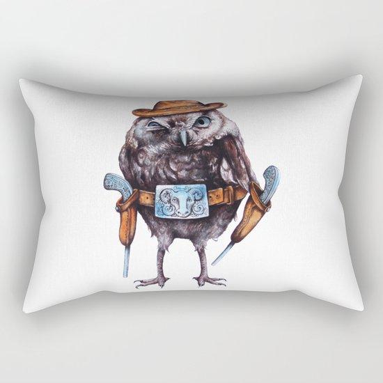 cowboy owl Rectangular Pillow