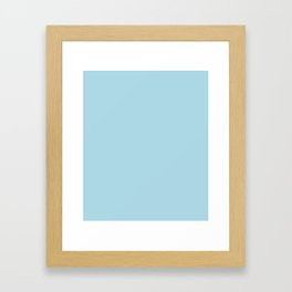 Light Blue - solid color Framed Art Print