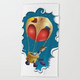 Ballon of dreams Beach Towel