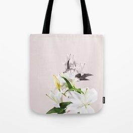 Tropical White Flowers #society6 #decor #buyart Tote Bag