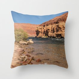 Colorado_River, Lees Ferry, Arizona Throw Pillow