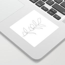 Plant one line drawing illustration - Kay Sticker