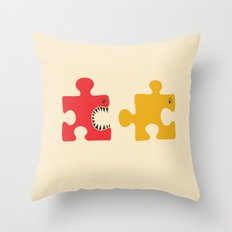 Puzzle Monster Throw Pillow